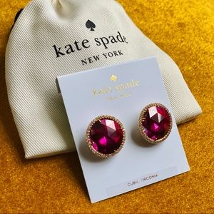 NWT Kate Spade She Has Spark Magenta Earrings